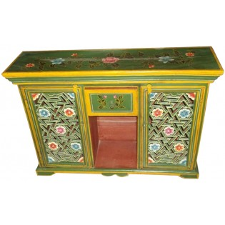 Painted Indian sideboard