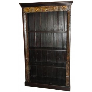 Indian carved bookcase