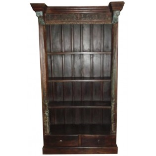Notched bookcase from India