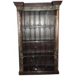 Indian bookcase with carvings