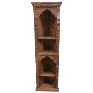Notched angular bookcase