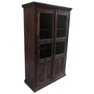 Cupboard with iron grates from India