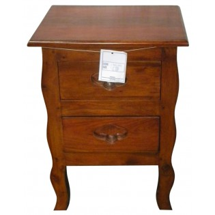 Bedside table in mahogany