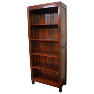 5-shelves bookcase in mahogany from Indonesia