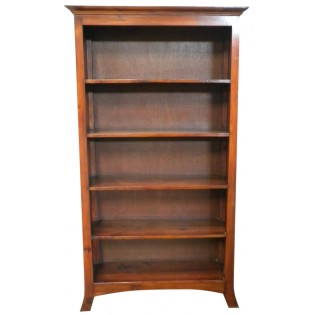 5-shelves bookcase in brown mahogany from Indonesia