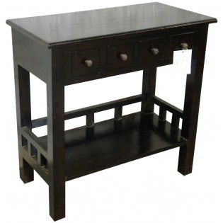 4-drawers Indonesian mahogany console