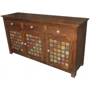 Indian sideboard with ceramic panels