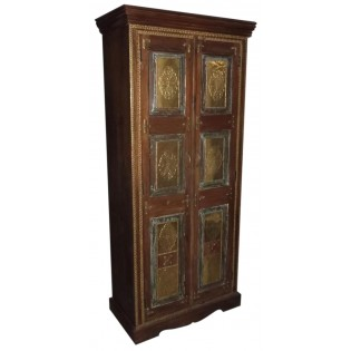 Indian cabinet with brass panels