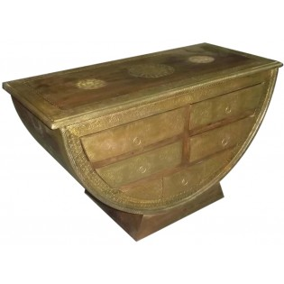 Indian chest of drawers with brass finishing