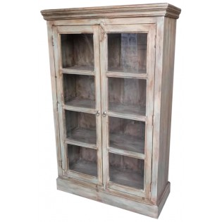 Indian 4-shelves rustic cabinet