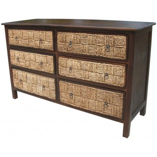 chest of drawers with 6 drawers of water hyacinth