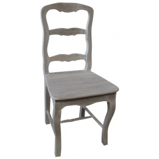 Shabby chic white pickled chair