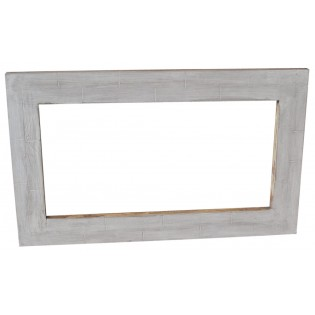 Shabby chic white pickled mirror 100x60x3 | Etnicart