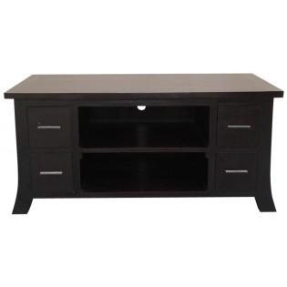 Indonesian TV furniture in dark mahogany