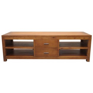 TV unit in light mahogany