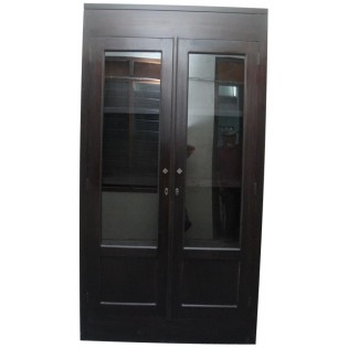 Dark mahogany display cabinet