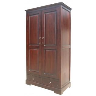 Dark mahogany wardrobe