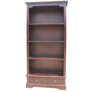 Bookcase in dark mahogany