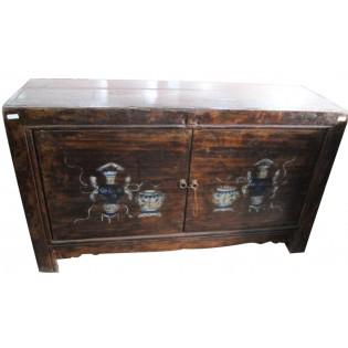 Mongolian 140-yo pine-wood sideboard