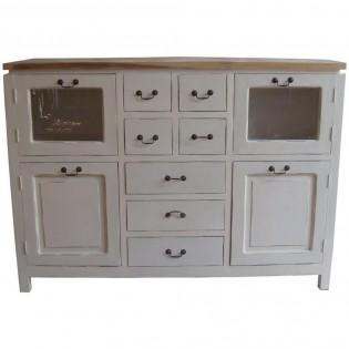 Credenza Bianca Shabby.White Shabby Chic Dresser With Drawers And Doors 150x108x37