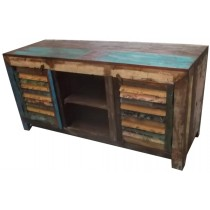 TV cabinet with recovered wood