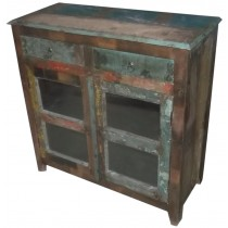 Sideboard with colored recovered wood