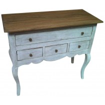 Shabby chic white pickled chest of drawers