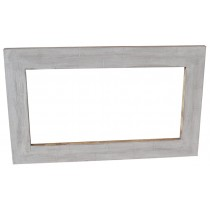 Shabby chic white pickled mirror