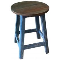 Shabby chic blue pickled stool