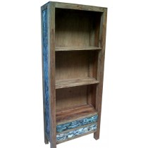 Bookcase with reclaimed wood