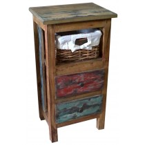 Indonesian recycled wooden chest of drawers