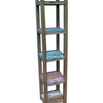 Reclaimed wooden open bookcase