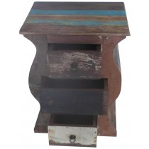 Indian recovered wooden nightstand