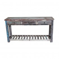 Indian ethnic console with recycled wood