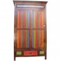 Ethnic wardrobe closet in reclaimed wood
