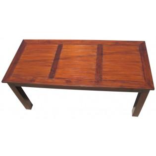 Table en teck et bambou