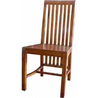 Chaise en acacia marron