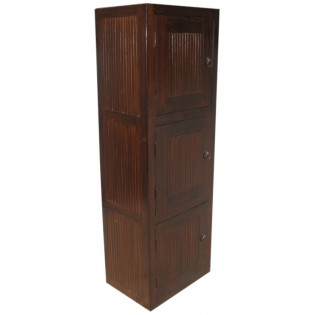 Module 3 avec porte en teck et bambou