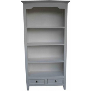 Bibliotheque blanche avec tiroirs