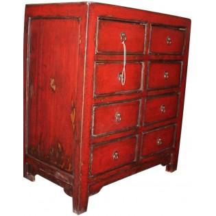Petit meuble antique avec tiroirs