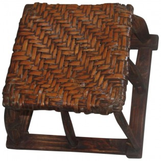 Antique tabouret chinois en bois d orme