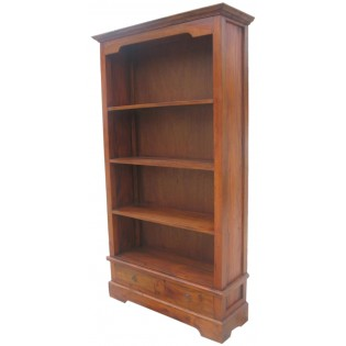 Bibliotheque avec tiroirs en acajou