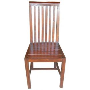 Chaise en acacia foncee