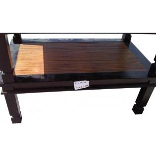Table basse en acajou et bambou