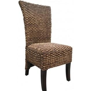 Chaise en la jacinthe d eau avec coussin interieur