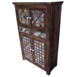 Cabinet indien compose de panneaux en ceramique
