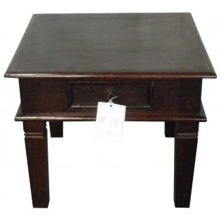 Table basse verte avec tiroir