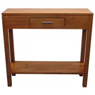 Console en acajou clair avec un petit tiroir