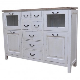 shabby chic dessus commode en teck 150x108x37 etnicart. Black Bedroom Furniture Sets. Home Design Ideas