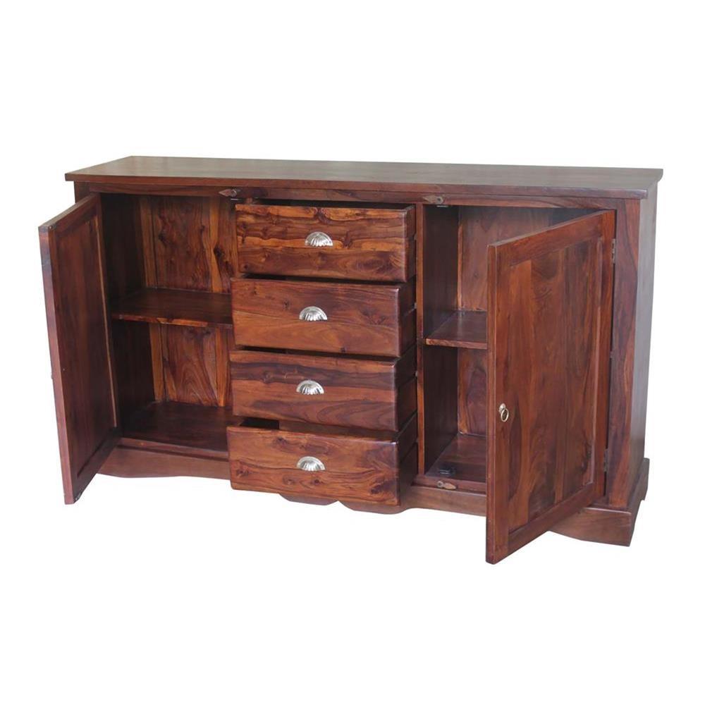 Credenza etnica in legno massello 177x100x40 codice JABU-69 | Etnicart